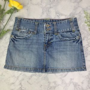 American Eagle Denim Mini Skirt  Sz 0